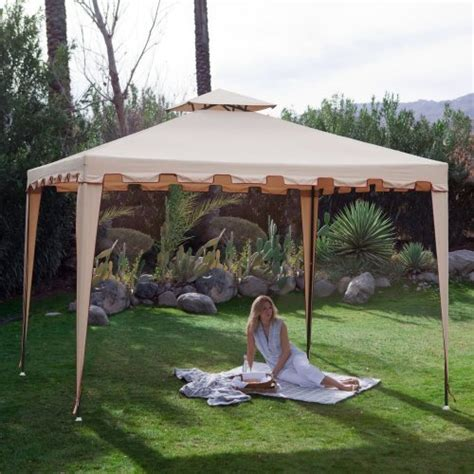 backyard festival 10 x 10 ft gazebo canopy outdoor