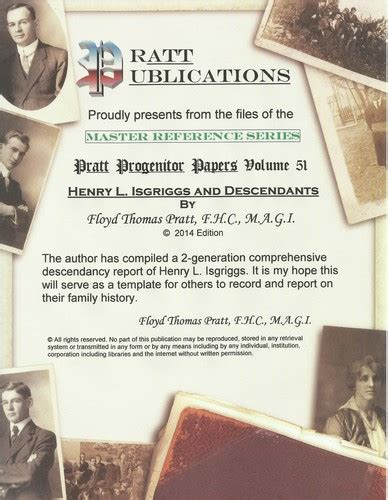 the descendants of henry sater of maryland classic reprint books henry l isgriggs isgrig isgreg and descendants volume 51