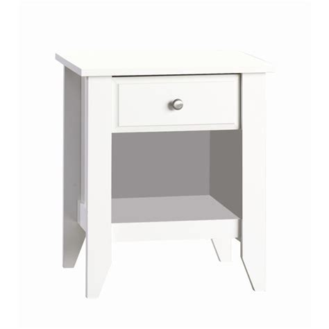 17 Inch Wide Nightstands Shoal Creek Matte White Stand By Foundations