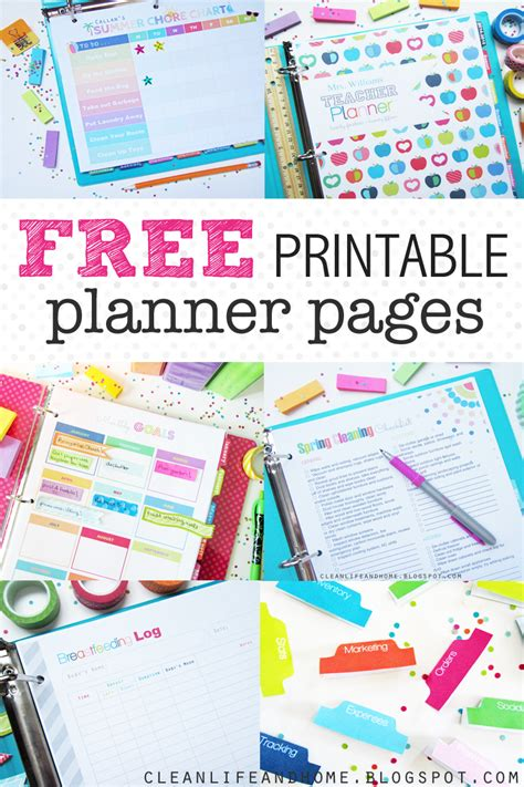 printable home planner pages printable daily planner 2016 2017 calendar template 2016