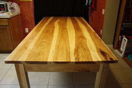 hickory dinning room table by lumberjocks