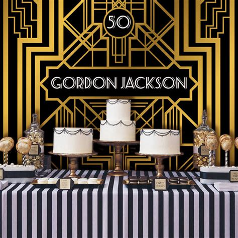Gatsby Wedding Banner by Great Gatsby Backdrop Adults Banner Poster Signage