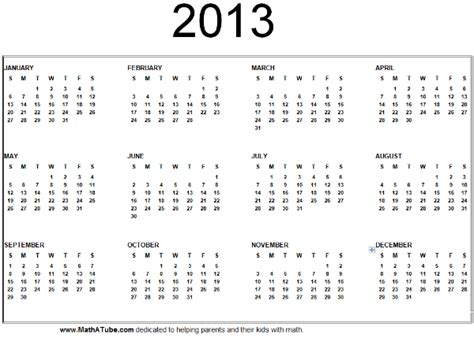 year 2013 calendar new calendar template site