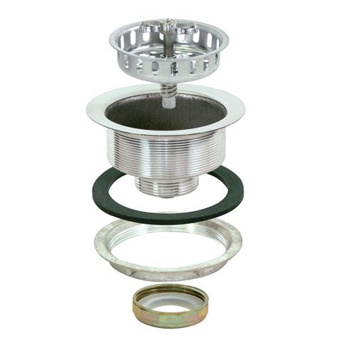 Kitchen Sink Seal Ez Flo Spin And Seal 4 1 2 In Sink Strainer In Stainless Steel 30009 The Home Depot