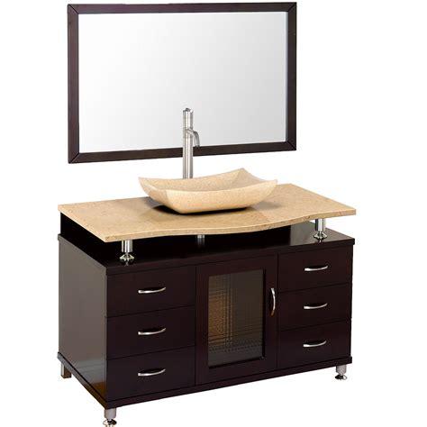 48 bathroom vanity accara 48 quot bathroom vanity with drawers espresso w
