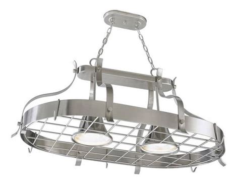 Kitchen Pot Hanging Rack With Lights Pot Racks Hanging Pot Racks And Pots On Pinterest