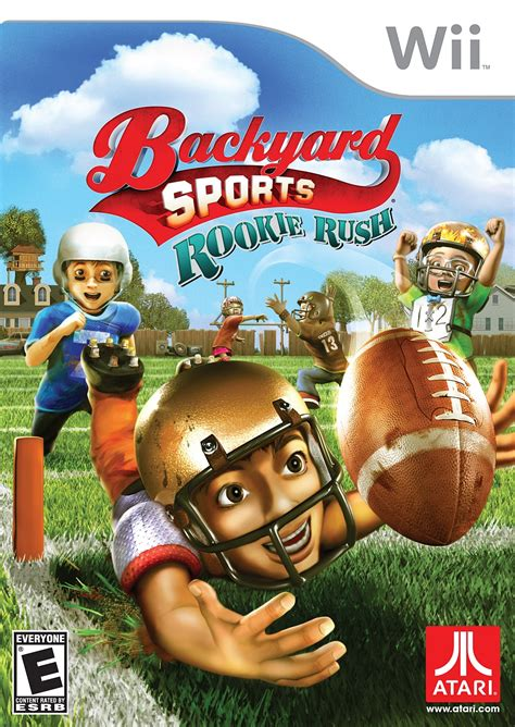 wii backyard sports backyard sports rookie rush nintendo wii game