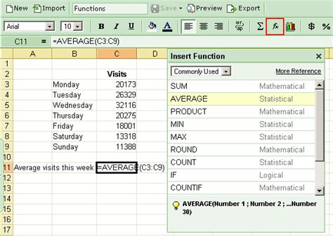 function sheet template insert function in zoho sheet 300 functions 171 zoho