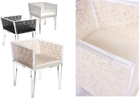 acrylic floral lace chair modern furniture los