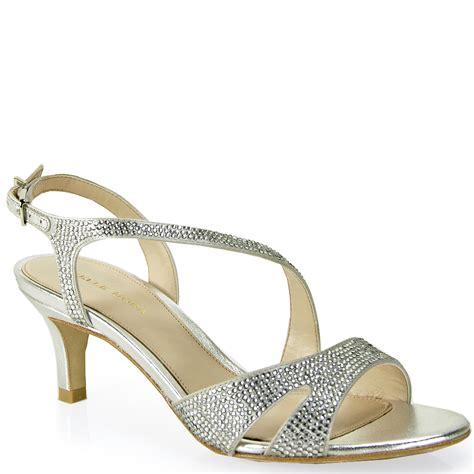 silver rhinestone sandals pelle moda rhinestone sandal in metallic lyst