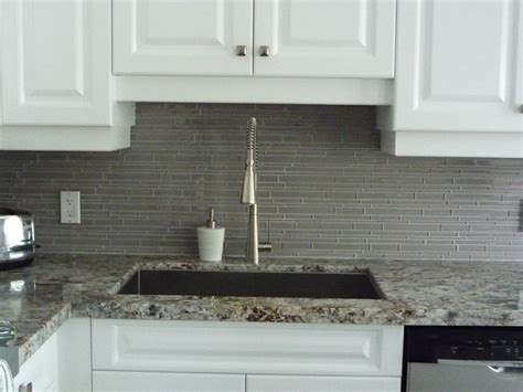 gray glass tile kitchen backsplash kitchen remodeling glass backsplash granite counter http www keramin ca traditional