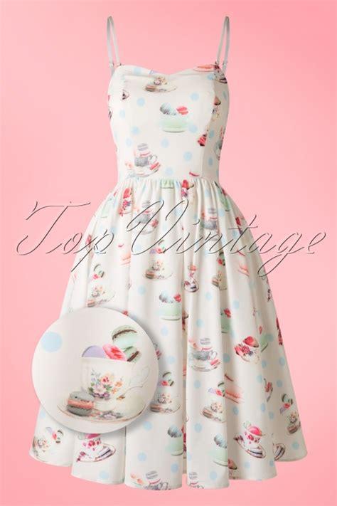 Macaron Dress 50s macaroon tea dress in ivory