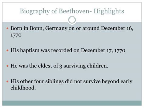biography of beethoven ppt ppt ludwig van beethoven 12 17 1770 3 26 1827 powerpoint