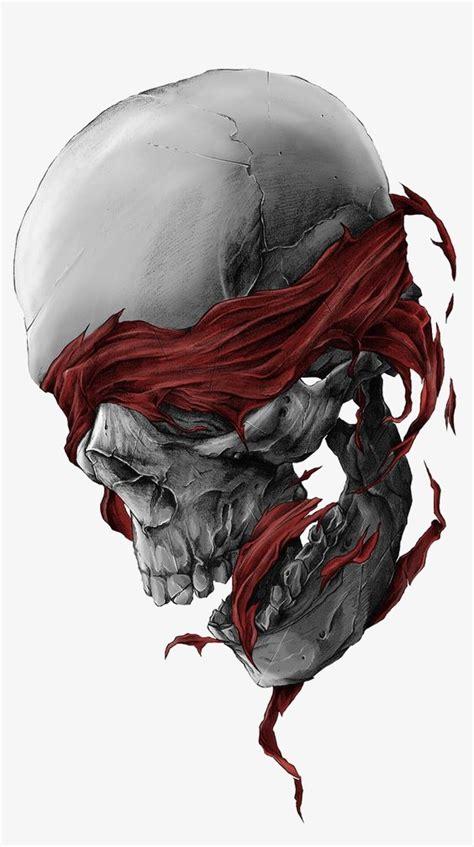 skull creative skull hand painted skull terror png