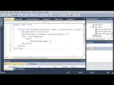 visual c tutorial gui visual basic tutorial 148 game part 4 more on gui