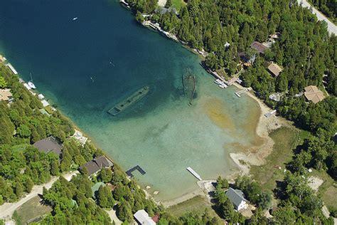 glass bottom boat white lake nc big tub shipwrecks aerial view of the two shipwrecks