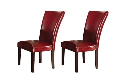 set of 2 hartford contemporary leather upholstered