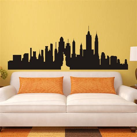 big w home decor new york skyline wall art stickers custom sticker