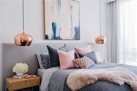 decorations blush gray copper room decor inspiration mauve home 40 gray bedroom concepts decor advisor