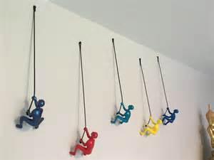 Global Views Home Decor 5 piece climbing sculpture wall art gift for mountain climber