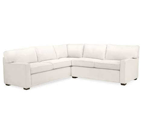 2 L Shaped Sectional by Pb Square Upholstered 2 L Shaped Sectional Pottery
