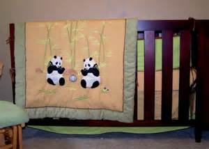 panda baby crib nursery bedding