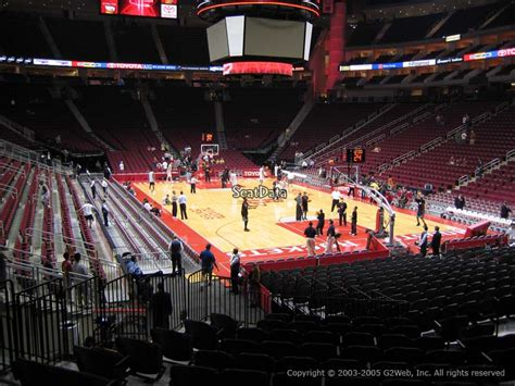 section 115 toyota center toyota center basketball seating sections rateyourseats com
