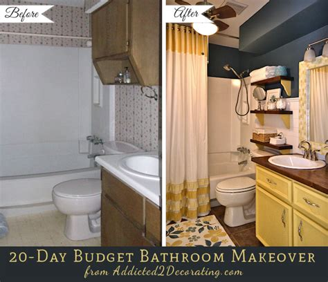 Cheap Bathroom Ideas Makeover by 20 Day Small Bathroom Makeover Before And After