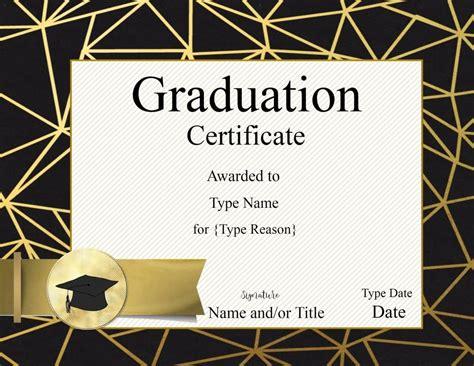 Graduation Certificate Template Customize Online Print Free Graduation Certificate Template