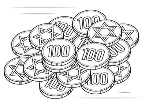 hanukkah 2015 coloring pages printable kolorowanka pieniądze chanuka kolorowanki dla dzieci do