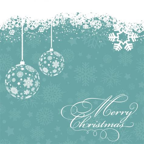white christmas balls with snowflakes background vector