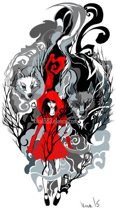 red riding hood tattoo commission by kika1983 on deviantart