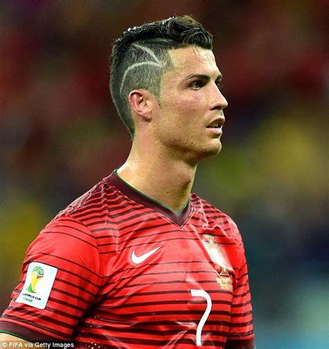 celebrities hair cutting games ronaldo cristiano ronaldo s zig zag hair cut was a tribute to a