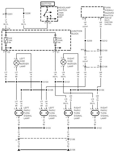 97 jeep wiring diagram free picture schematic wiring where is the parking l wire for a 97 jeep