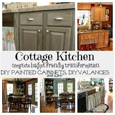 diy rustic kitchen cabinets cottage kitchen makeover painted kitchen cabinets