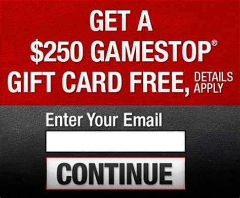 Free Gamestop Gift Cards - free 250 gamestop gift card free gift cards pinterest