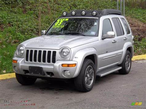 jeep renegade silver 2003 jeep liberty renegade 4x4 in bright silver metallic