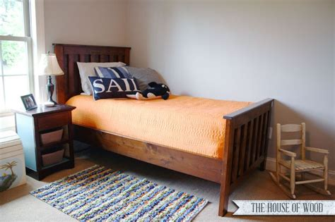 how to make a twin bed how to build a twin size bed frame woodworking projects