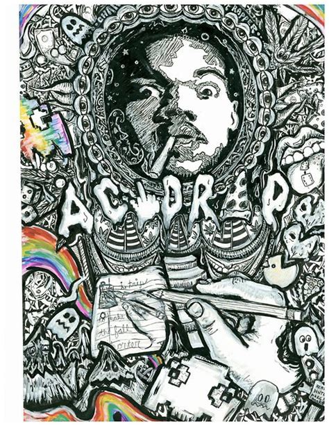 doodlebug rapper chance the rapper print