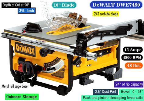 best price on dewalt table saw dewalt dwe7480 a sturdy affordable dewalt portable