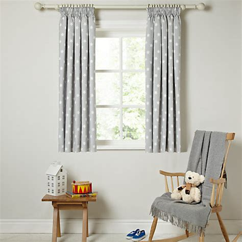 childrens curtains john lewis buy little home at john lewis star pencil pleat blackout