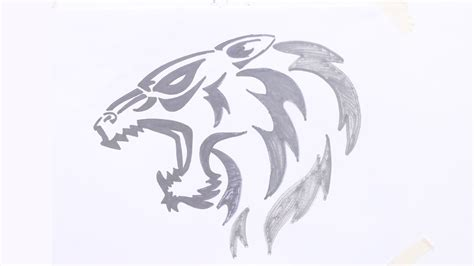 tiger head tribal tattoo how to draw tiger tribal