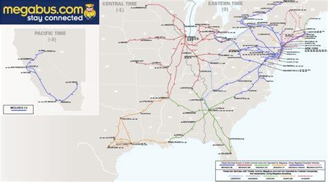 megabus usa route map the megabus revolution the antiplanner