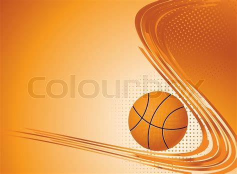 background design basketball abstract sport background vector illustration with ball