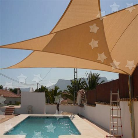 sail shaped awnings garden patio sun shade sail canopy awning sunscreen 98 uv