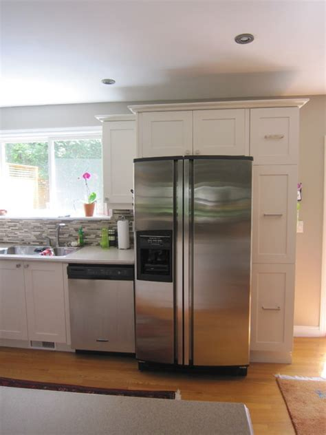 Low Cost Kitchen Cabinets Low Cost Kitchen Refresh With Shaker Cabinets Traditional Kitchen