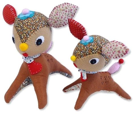 Handmade Infant Toys - handmade critter doll deer modern baby and toddler