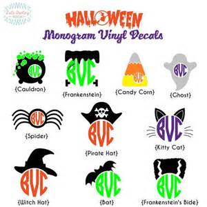 monogram ideas monogram halloween vinyl decal by loladarlingdesigns on