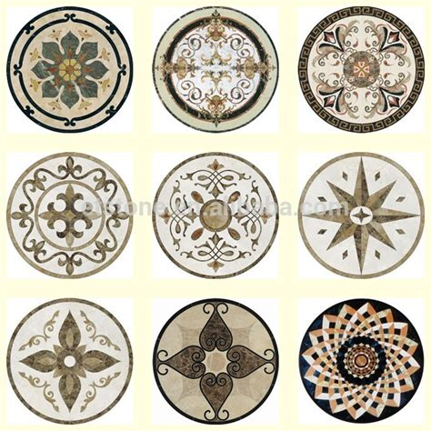 decorative marble design hotel flooring decorative waterjet marble medallions