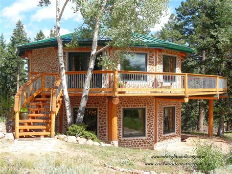 cordwood construction in colorado by bryan lois